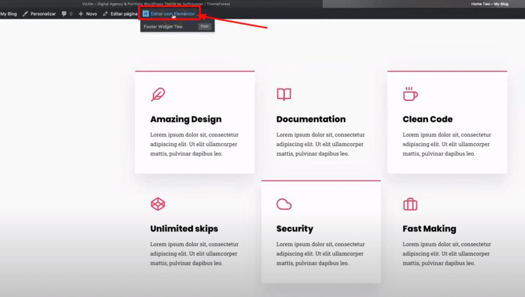 Edite com Elementor no WordPress