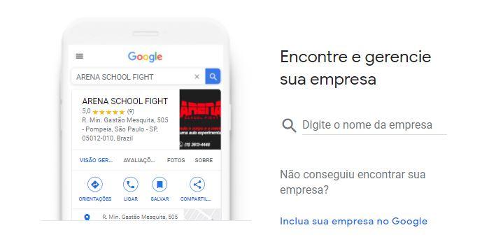 Criar conta Google Empresas