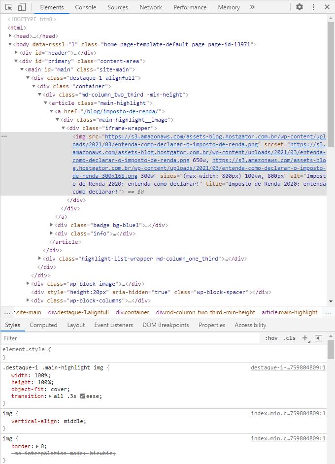 Abrir HTML da página no Chrome