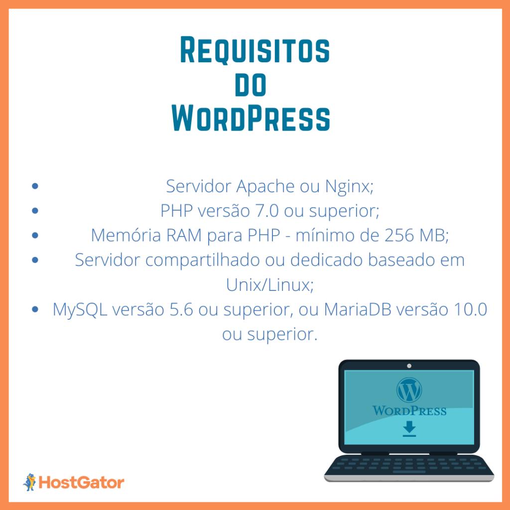Requisitos mínimos de sistema para WordPress 5.7