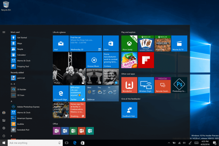 Microsoft Windows Interface