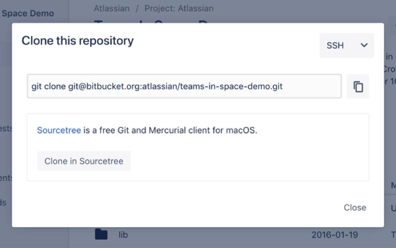 clonar repositório bitbucket
