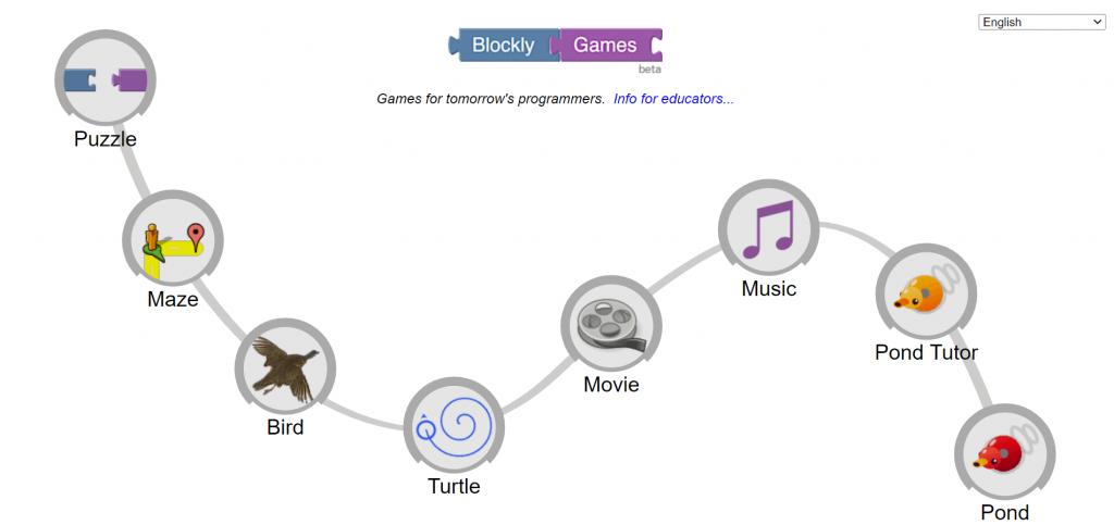 linguagem de programação blocky