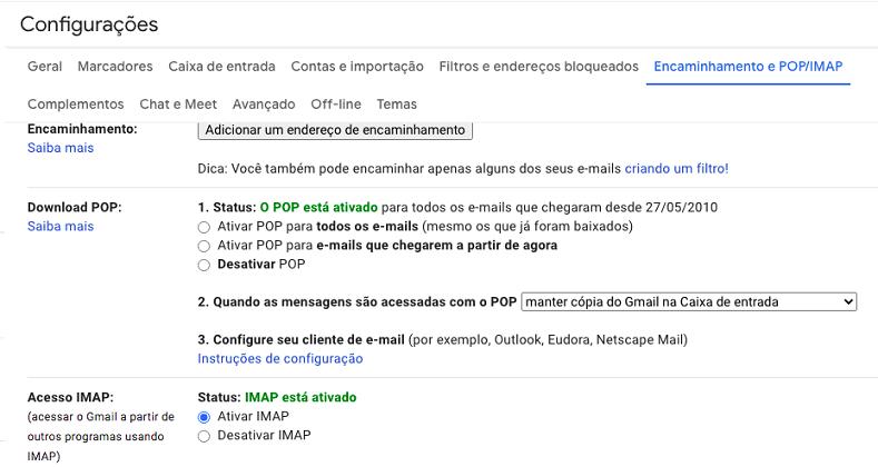 IMAP - Configuração - Hostgator