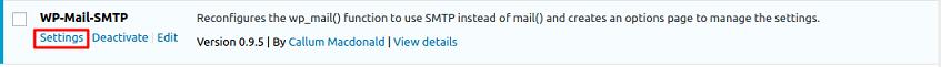 configurações WP mail SMTP - HostGator