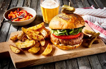 Photo de la recette de Burgers aux deux fromages