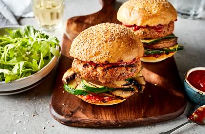 Photo de la recette de Burgers alla parmigiana