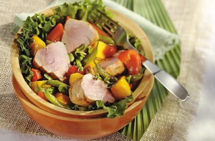 Photo de la recette de Filets de porc et légumes aux épices orientales en papillotes