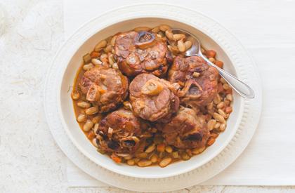 Photo de la recette de Osso buco de porc braisé aux haricots cannellini
