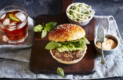 Photo de la recette de Burgers de porc à l'asiatique