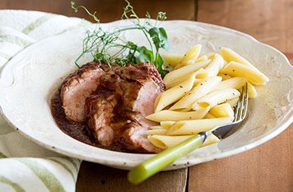 Photo de la recette de Filet de porc à la mijoteuse