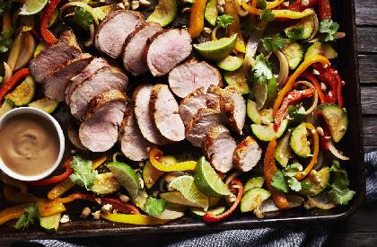 Photo de la recette de Plaque de filet de porc à la thaï