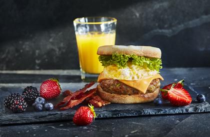 Photo de la recette de Galettes de saucisses déjeuner à l'érable