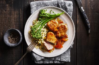 Photo de la recette de Médaillons de porc à l'érable et abricots