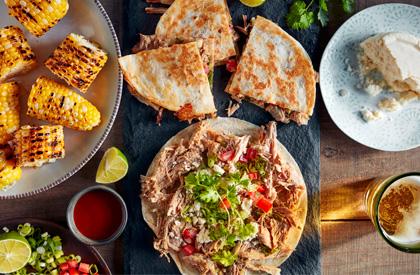 Photo de la recette de Quésadillas au porc effiloché