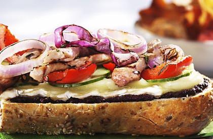 Photo de la recette de Sandwichs chauds de porc à la provençale