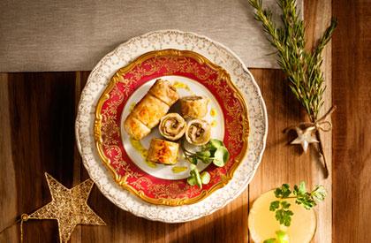 Photo de la recette de Escalopes de porc au pesto de coriandre
