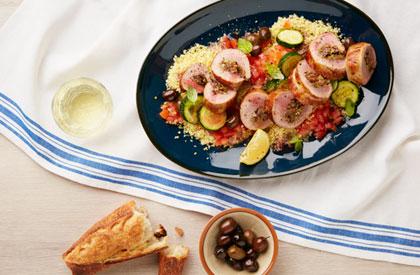 Photo de la recette de Filets de porc farcis à la méditerranéenne