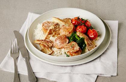 Photo de la recette de Médaillons de porc aux pleurotes