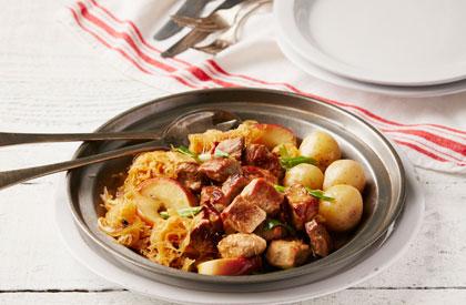 Photo de la recette de Mijoté de porc à la choucroute