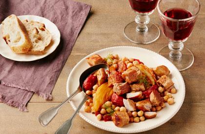 Photo de la recette de Mijoté de porc au fenouil et au pastis