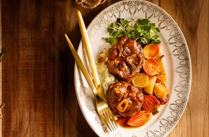 Photo de la recette de Osso buco de porc aux effluves de Noël