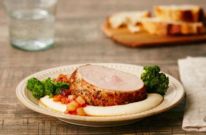 Photo de la recette de Rôti de porc aux herbes de Provence