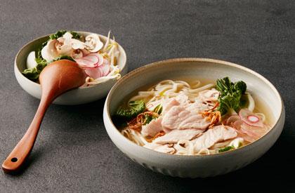 Photo de la recette de Soupe tonkinoise aux lanières de porc