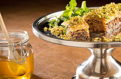 Photo de la recette de Baklava à la queue de cochon et aux pistaches