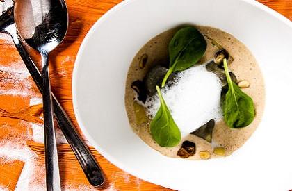 Photo de la recette de Raviolis de boudin, sauce crémeuse aux dattes