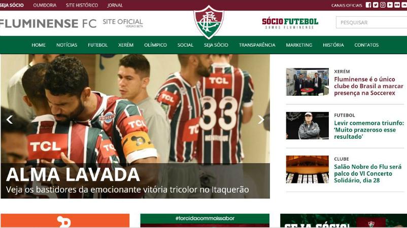 Fluminense apresenta novo site oficial com muitas novidades — Fluminense  Football Club 016efe6661d5c