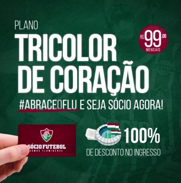 Fluminense lança novo plano Sócio Futebol  Tricolor de Coração ... 892846b0578d5