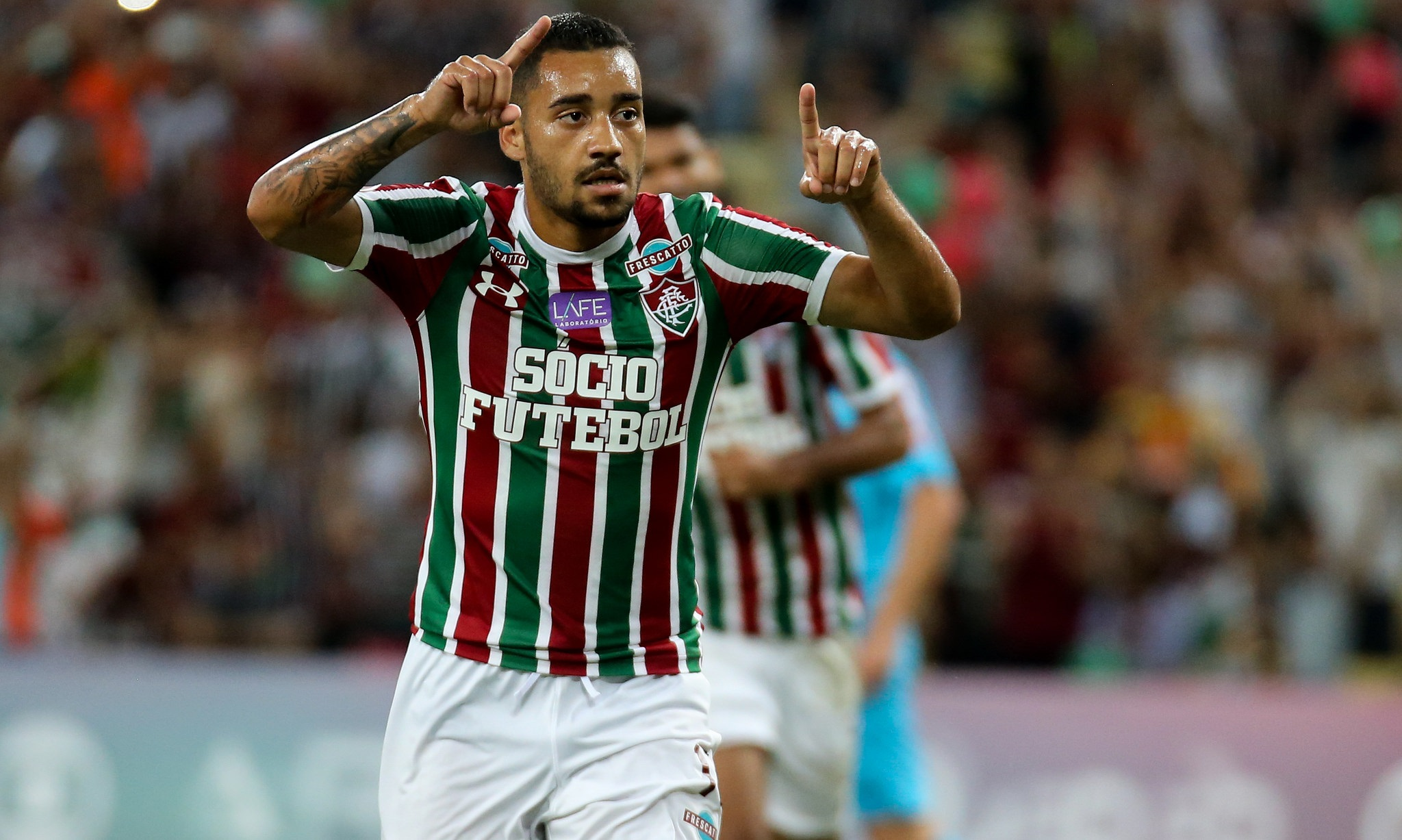 Robinho comemora primeiro gol com a camisa Tricolor — Fluminense Football  Club 3979d9f34fb2e