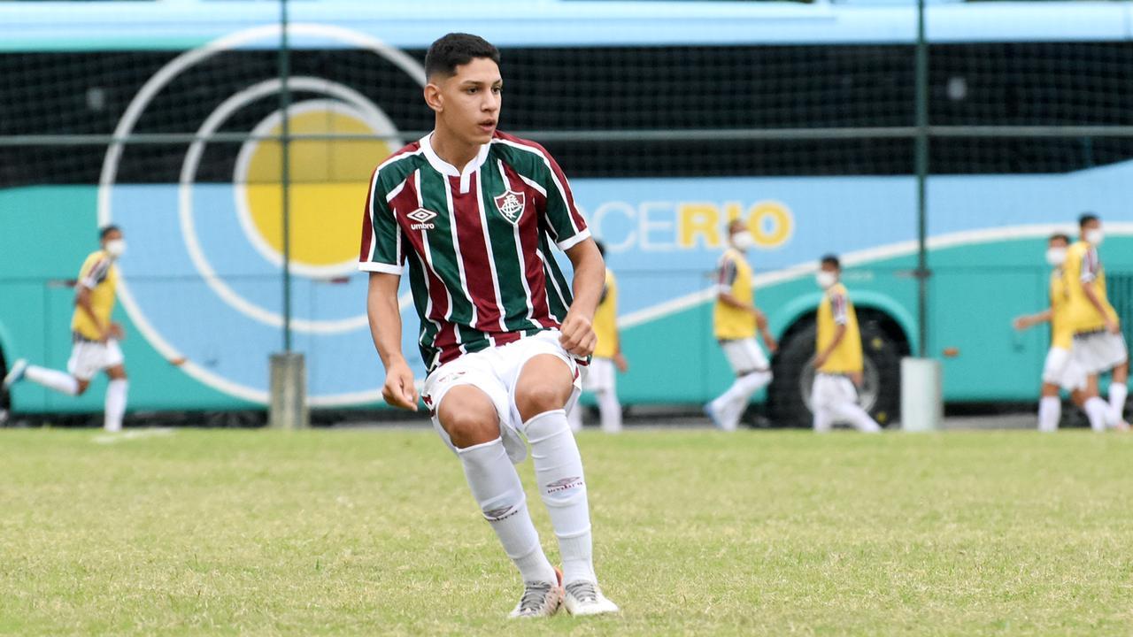 Thiago Henrique em ação pelo Fluminense