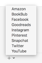 Add entries for Goodreads, Pinterest, and other services