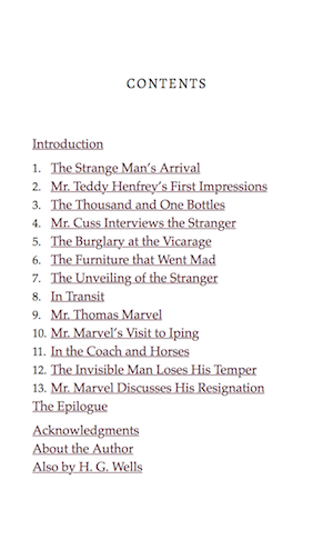 The Table of Contents in an ebook