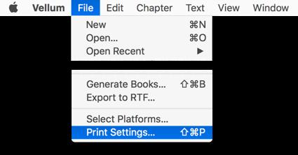 Print Settings, as found in File menu