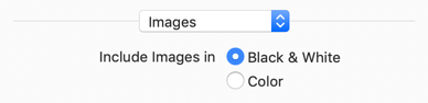 Controls for black and white or color images