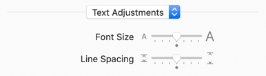 Adjust font size and line spacing