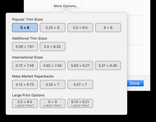 Screenshot of controls shown in Print Settings