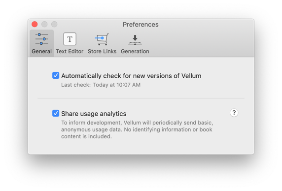 Automatically check for updates in Preferences
