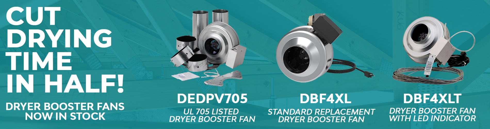 Dryer Booster Fans