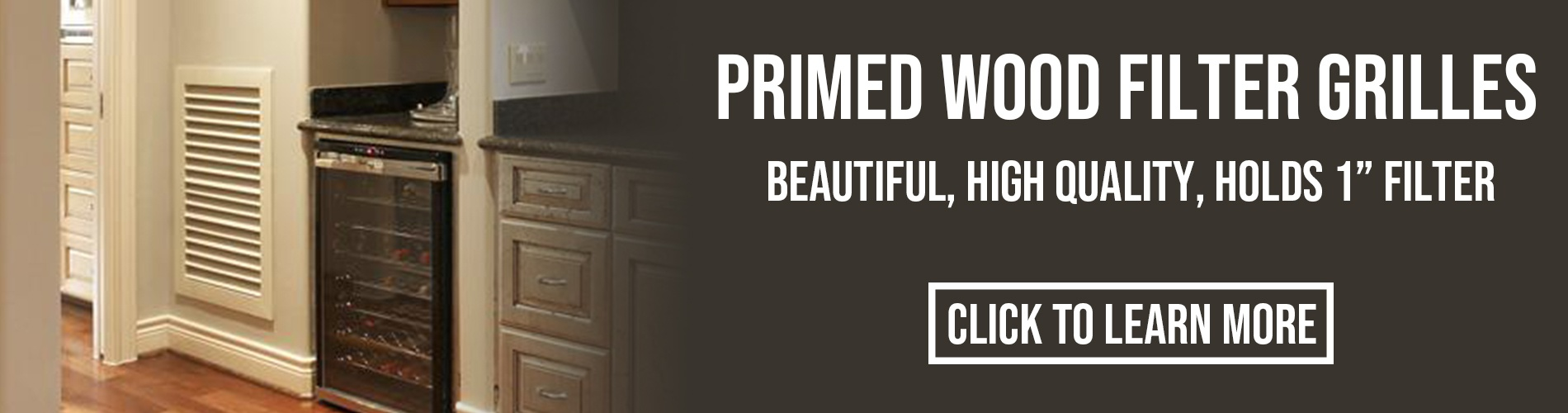 WHPGF Primed Wood Filter Grilles