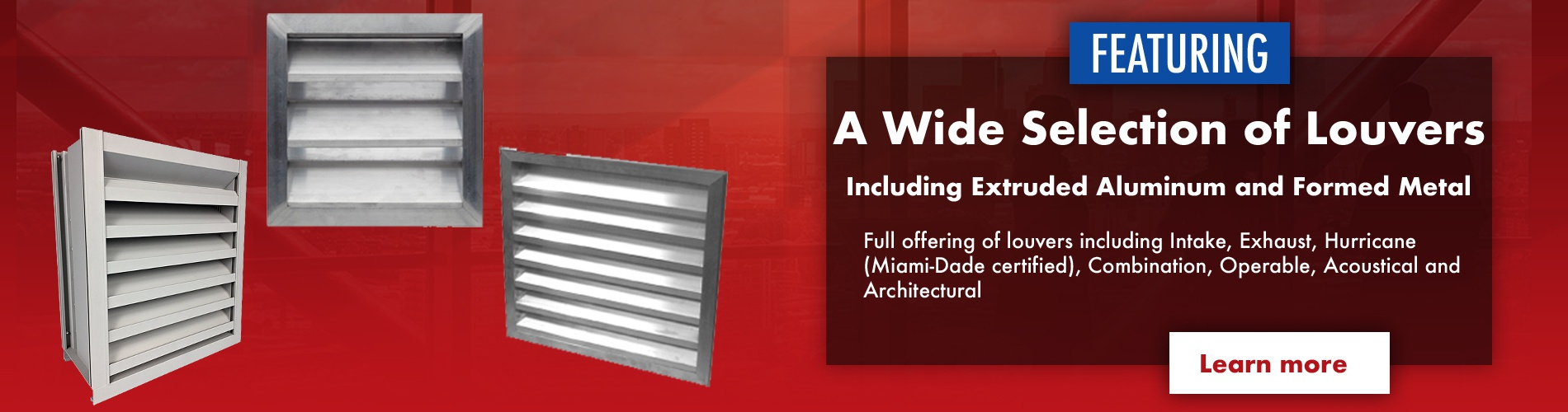 A Wide Selection of Louvers