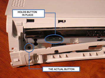 changing the xbox 360 dvd eject button and bezel without opening the rh morehawes co uk Optical Drive Eject Button Eject Button On Keyboard