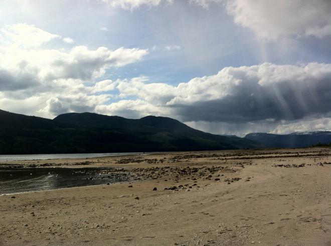 Wandering the lake shore near Nakusp