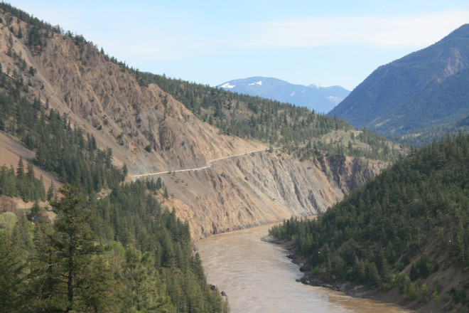 The Big Slide leaving Lillooet