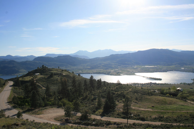 Looking out over Osoyoos