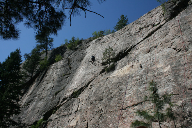 Climbing at the Skaha Bluffs