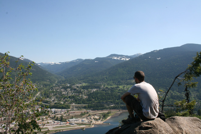 Looking out over Nelson, BC